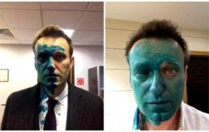 навального облили зеленкой нанять гопника